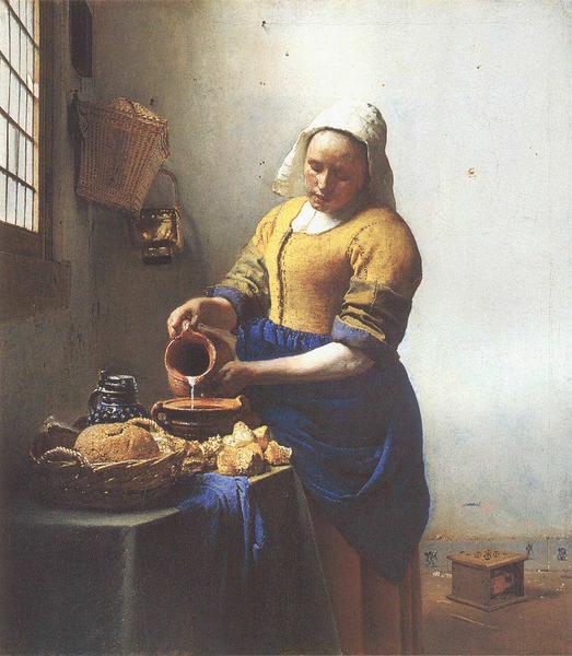 Johannes Vermeer, het melkmeisje