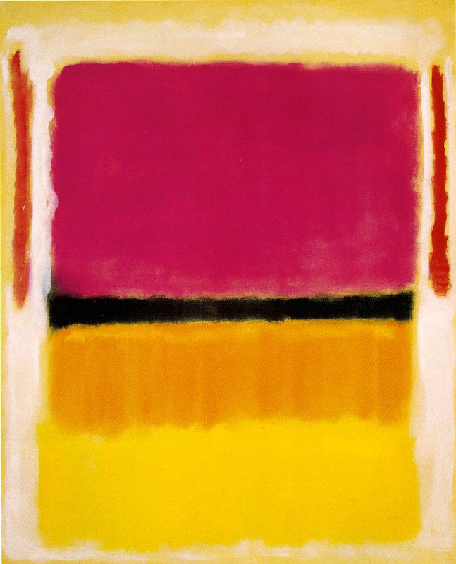 Mark Rothko, red yellow black on white
