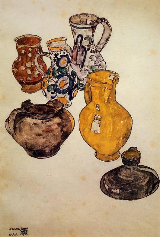 Egon Schiele, keramik