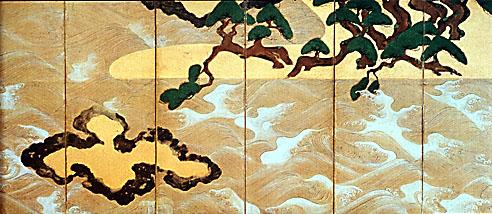 sotatsu matsushima, pine island left