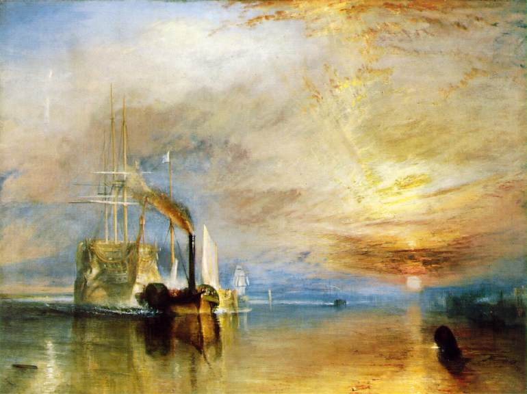 Joseph Mallord William Turner, The Fighting Temeraire, tugged to her Last Berth to be broken up