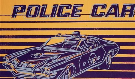 andy warhol, police car