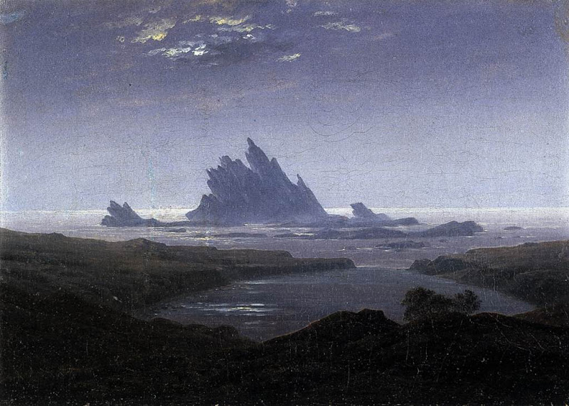 caspar david friedrich, rocky reef