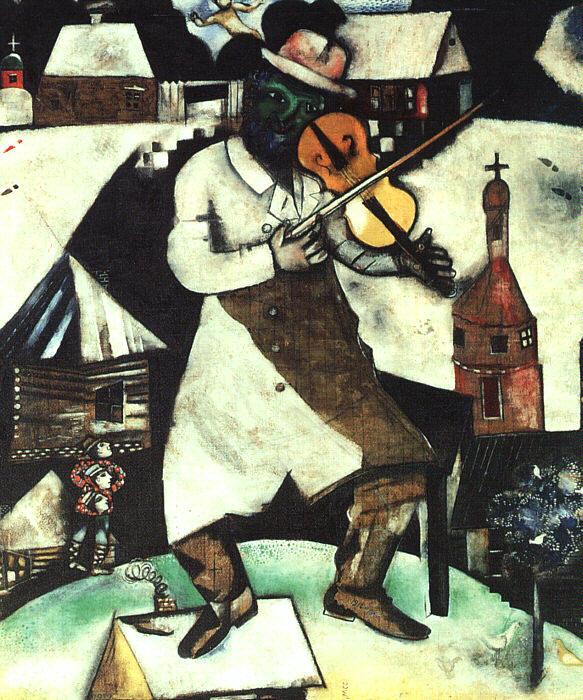 Marc Chagall, de vioolspeler