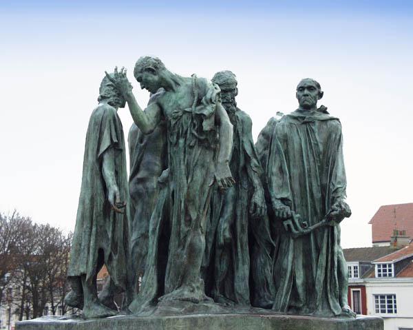 Auguste Rodin, de burgers van Calais