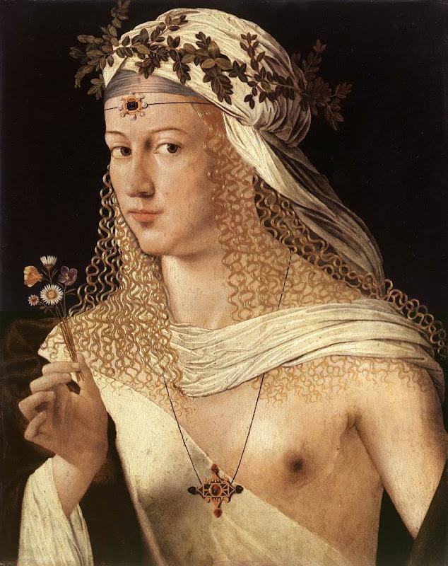 Bartolomeo Veneto, portret van een vrouw