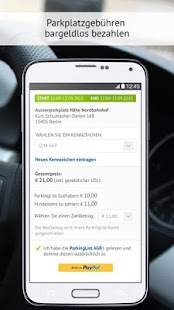 ParkingList – Parkplatz App- screenshot thumbnail