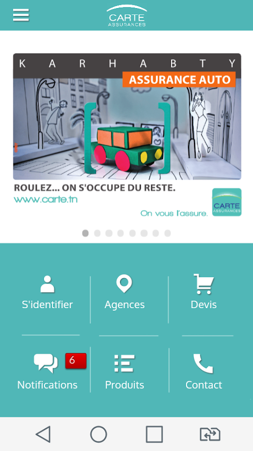 CARTE  Assurances- screenshot
