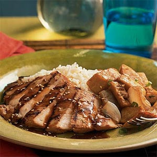 Grilled Chicken with Whiskey-Ginger Marinade.