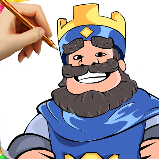 How To Draw Clash Royalë Character Step by Step