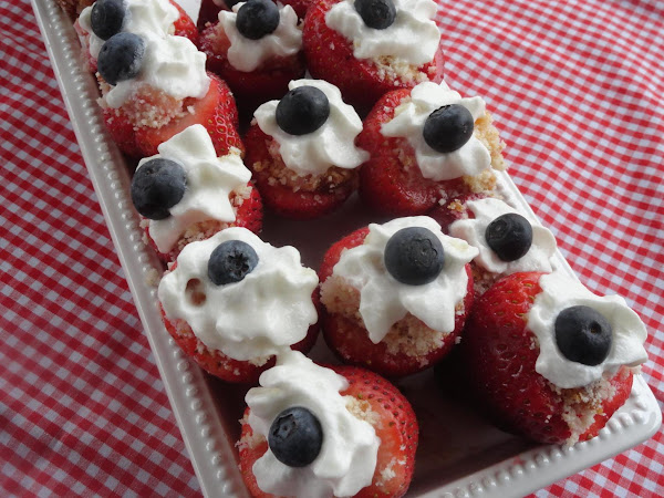 Strawberry Shortcake Red White & Blue Bites Recipe