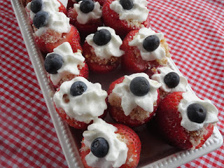 Strawberry Shortcake Red White & Blue Bites Recipe