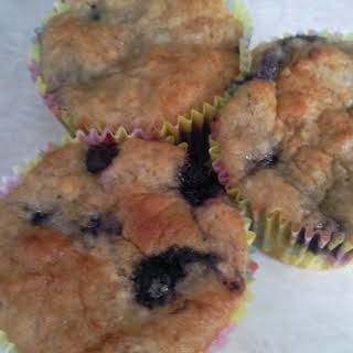 Honey Coconut Muffins with Blueberries.