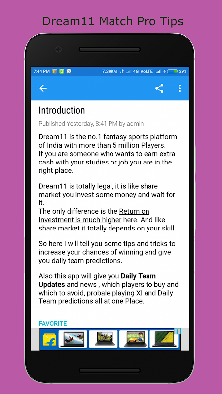 pro team tips for dream11 APK Latest Version Download - Free