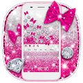 Pink Glitter Gravity keyboard
