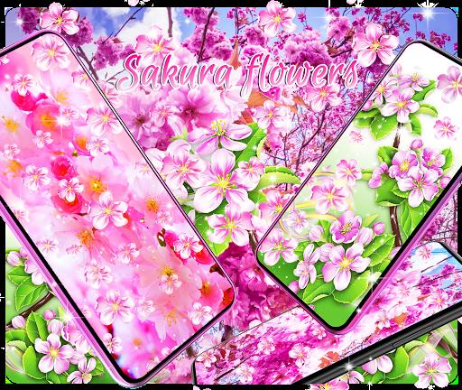 sakura flowers live wallpaper screenshot 1