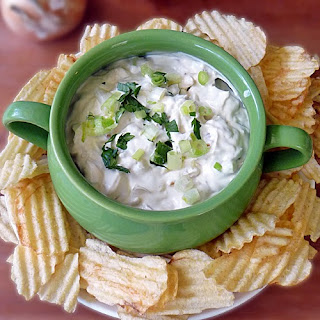 Creamy Caramelized Onion Dip with Hot Sauce