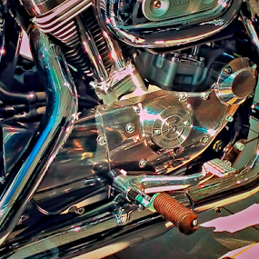 For The Love Of Chrome by Lawrence Ferreira - Transportation Motorcycles ( ride, abstract, photograph, sunnyside, colorful, colors, chrome, photography, shapes, shiney, motorcycles, inspiring, visual, abstract art, love of chrome, motorcycle, impressive, stunning,  )