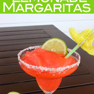 Strawberry Lemonade Frozen Margaritas.