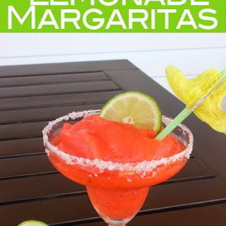 Strawberry Lemonade Frozen Margaritas.