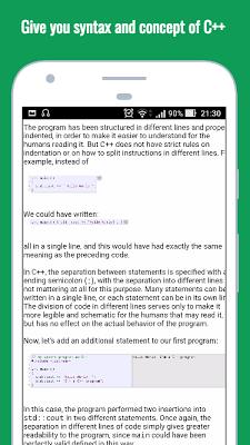 Learn C++ language - screenshot