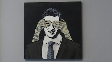 """Photo: Galerie Pretty Portal; Stencils Only 2016; ICY & SOT """"Venalty"""""""
