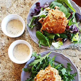Low Carb Crab Cakes and Lemon.