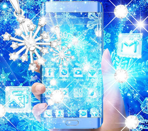 Blue Snow Flake Diamond Theme 1.1.2 4