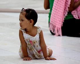 Photo: Year 2 Day 54 -  Sweet Girl in the Paya in Yangon