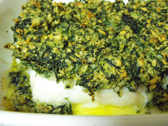 Hake Medallions Topped with Green Cabbage Recipe