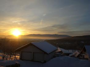 Photo: Sonnenaufgang am Balkon