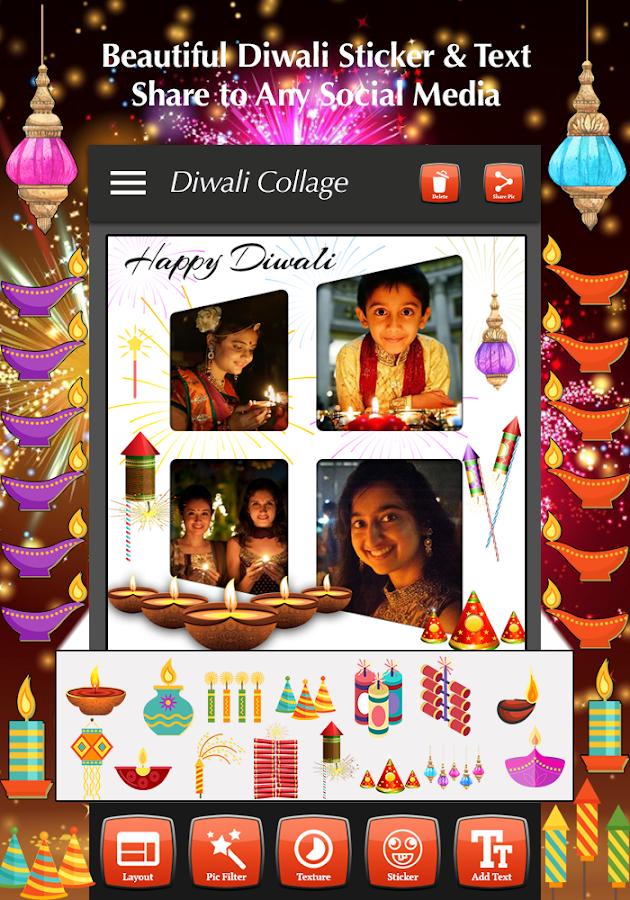Diwali Photo Collage Maker