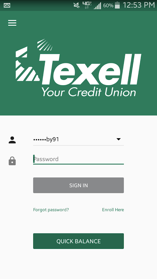 Texell Credit Union- screenshot