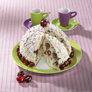 Chilled Cherry Cassata Cake