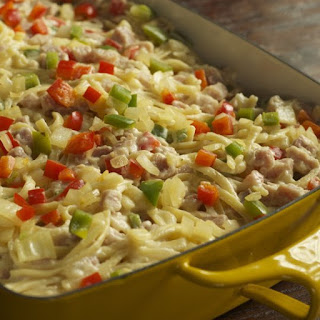 Ham and Linguine Casserole