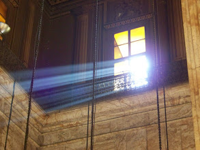 Photo: Another angle on the visible light beams coming in through the window.