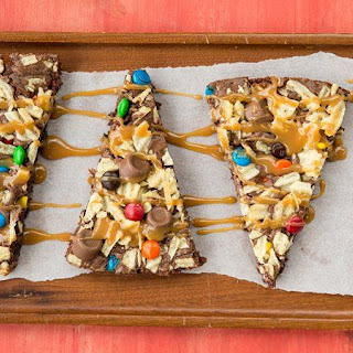 Potato Chip-Candy Brownie Pizza