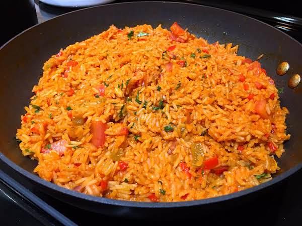 Rice Dish In A Large Saucepan