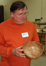 Photo: Richard Webster went with the natural-edge of this spalted red maple.