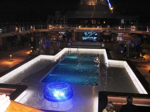Oceania Marina pool at midnight