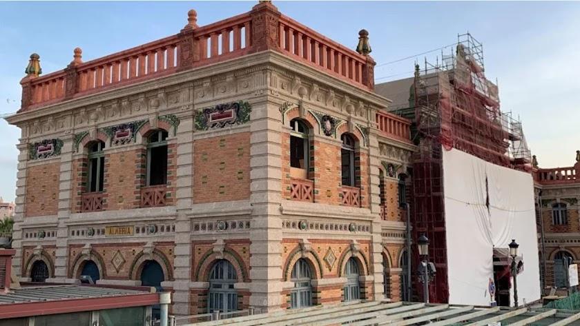 Imagen de archivo de las obras en la antigua estación