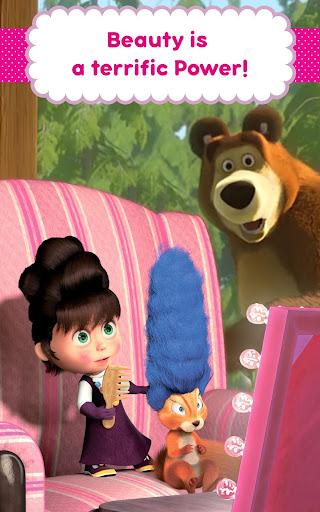 Masha and the Bear: Hair Salon and MakeUp Games 1.1.8 screenshots 12
