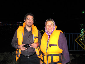 Photo: Day 150 - Saeid & Dee at Chalidareh Dam in Torqabeh