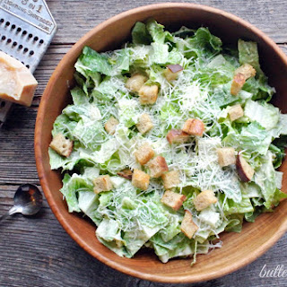 Easy Classic Caesar Dressing-With Simple Salad Instructions.