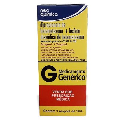 Dipropionato Betametasona + Fosfato Betametasona 5-2mg/ml