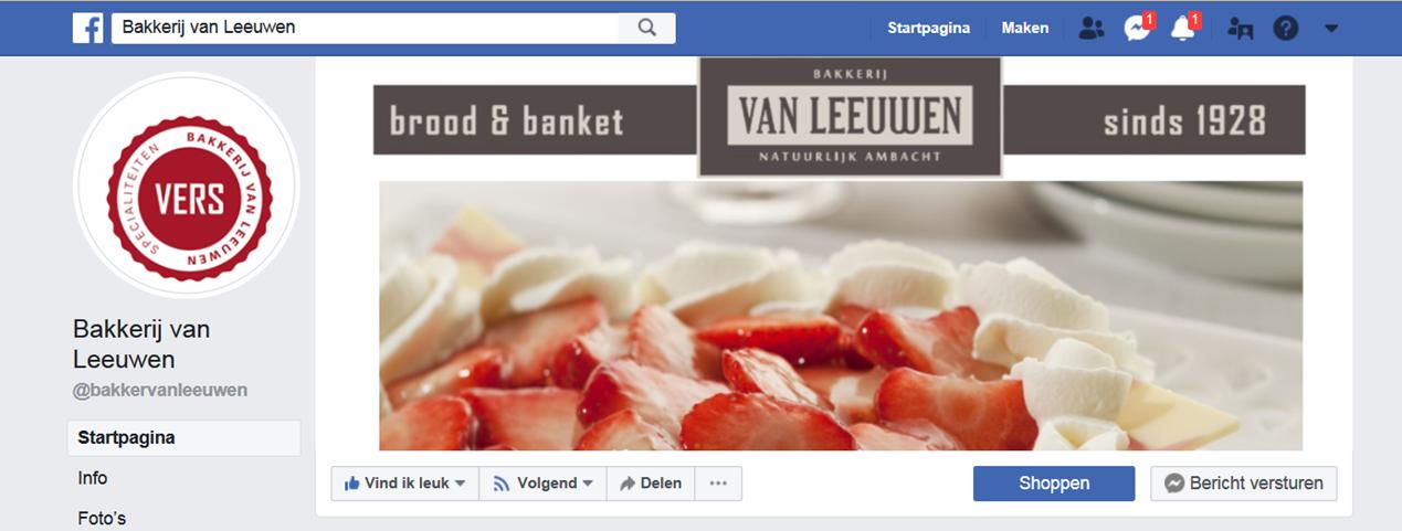 Facebook Bakkerij van Leeuwen