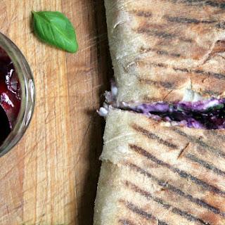 Blueberry Mozzarella Panini.