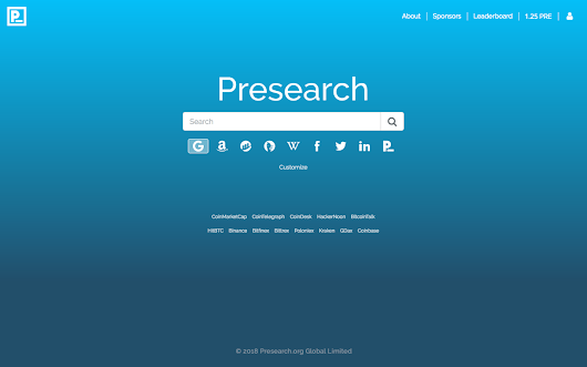 Presearch.org Start With Us