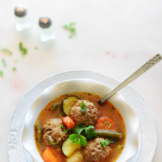 Authentic Albondigas Soup.