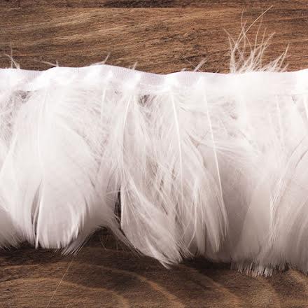 Fjäderband - gås 8cm, vit